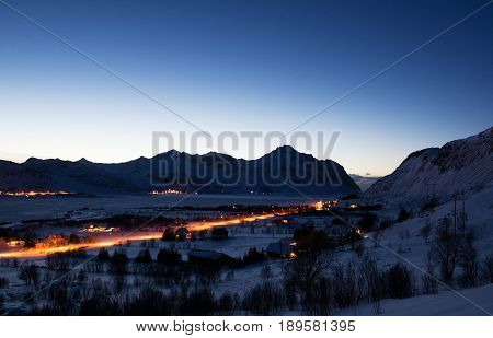 Blue Hour Near Borg, Lofoten, Norway
