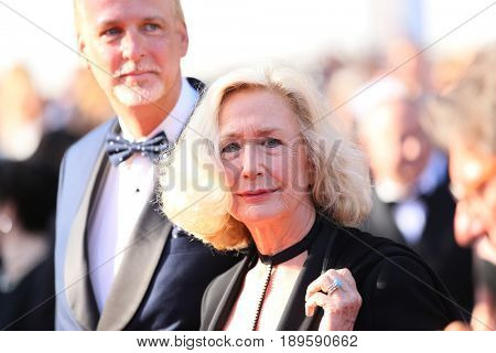Brigitte Fossey attends the Closing Ceremony during the 70th annual Cannes Film Festival at Palais des Festivals on May 28, 2017 in Cannes, France.