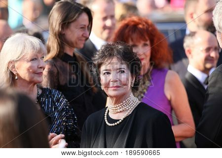 Marie Josee Nat, Marina Vlady attend the Closing Ceremony during the 70th annual Cannes Film Festival at Palais des Festivals on May 28, 2017 in Cannes, France.