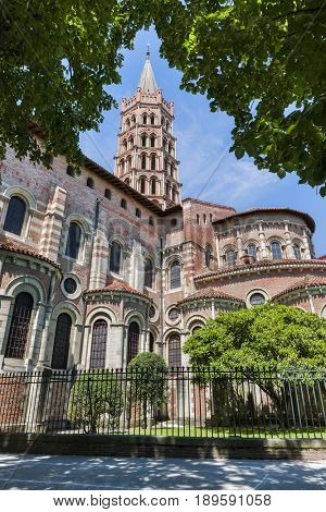 Basilica of St. Sernin is a landmark in Toulouse, France.