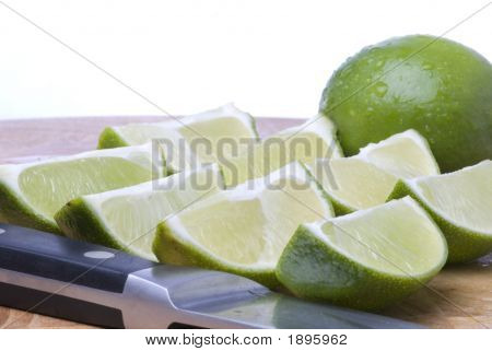 Fresh Cut Lime Wedges (Horizontal)