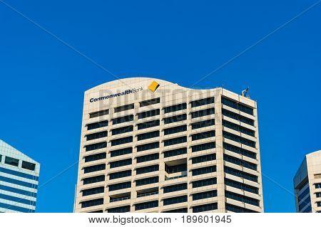 Commonwealth Bank Of Australia Building In Sydney Cbd