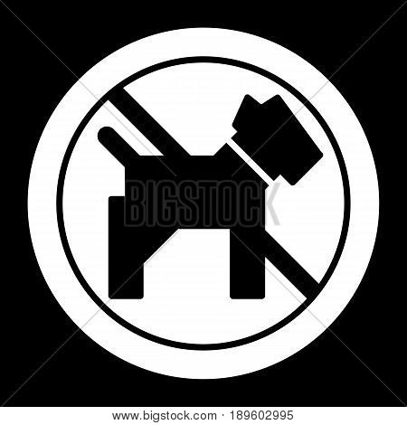 No dogs simple vector icon. Black and white illustration of dog and forbidden sign. Outline linear pet icon. eps 10