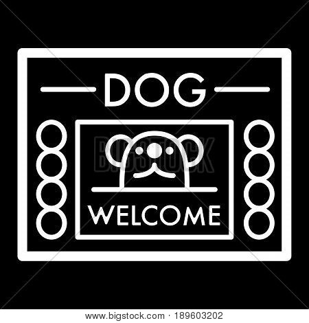 dog shelter simple vector icon. Black and white illustration of house for Homeless dogs. Outline linear icon. eps 10