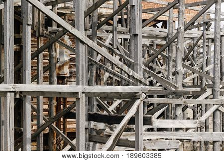 Old Wooden Scaffolding