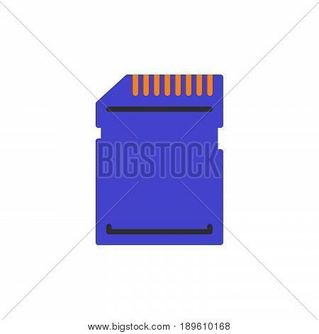 SD card vector icon colorful sign isolated on white