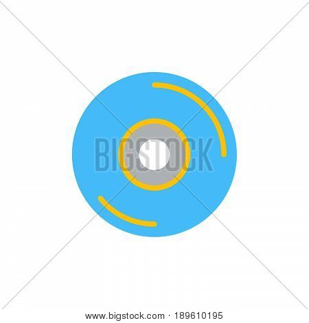 CD DVD disc vector icon colorful sign