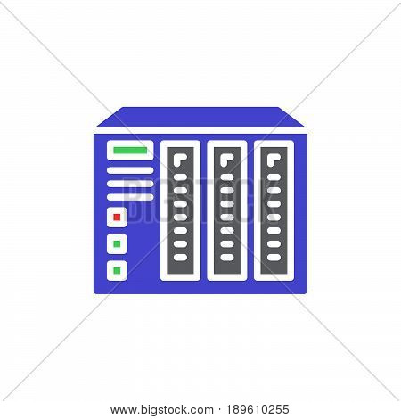 NAS server vector icon colorful sign isolated on white
