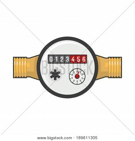 Water Meter Icon on White background. Vector illustration