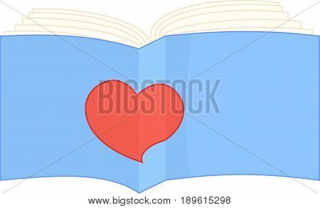 blue cartoon book vector illustration sign book like isolated on white