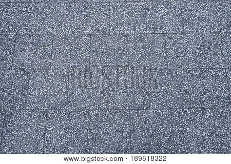 Concrete and rock pavement texture and background