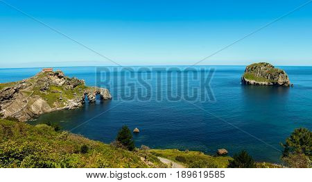 The peculiar surroundings and hermitage of San Juan de Gaztelugatxe
