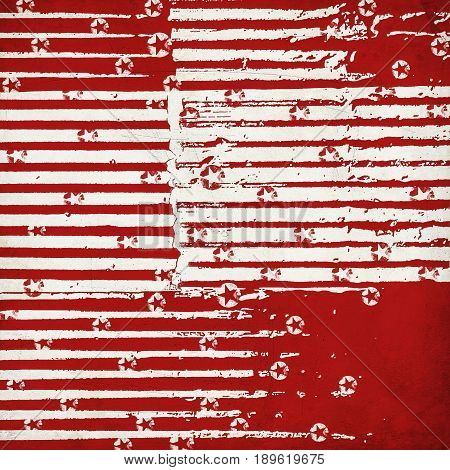 grunge christmas background with stars and stripes