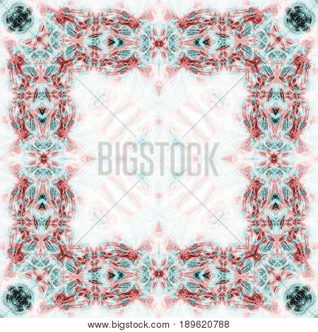 Beautiful fancy ornate frame symmetry template layout image