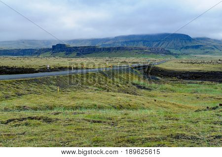 Countryside And Landscape Near Kirkjubaearklaustur