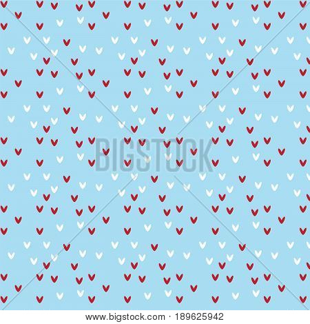 red and white heart shape pattern on soft blue background vector illustration image
