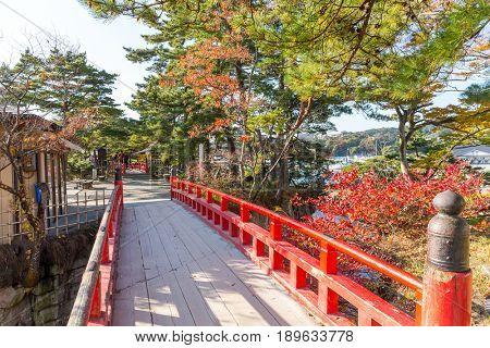 Matsushima Miyagi and red bridge