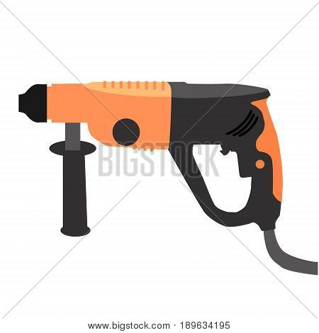 Puncher icons in flat style. Vector illustration isolated on a white background.