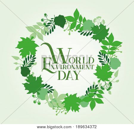 World Environment Day Card Design. Vector Illustration. Easy to manipulate, re-size or colorize.