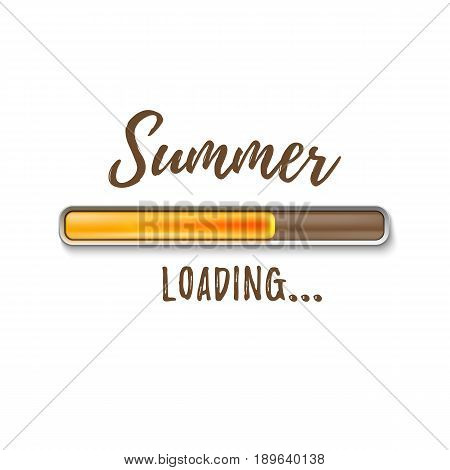Summer loading bar isolated on white background. Vector illustration.