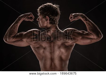 Strong Athletic Man Fitness Model