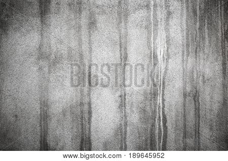 Old Concrete Wall With Dark Wet Stains