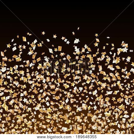 Congratulations background with confetti isolated on a transparent backdrop