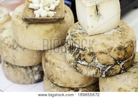 Artisan Cheese In A Market