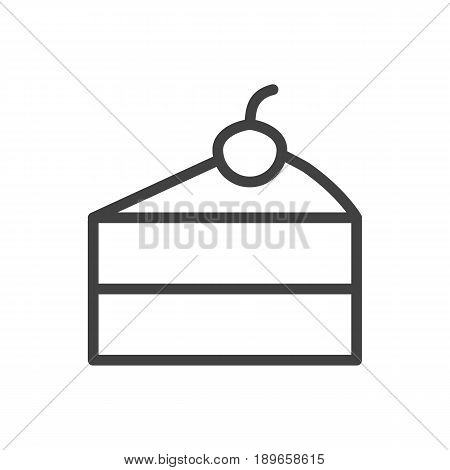 Isolted Sweetmeat Outline Symbol On Clean Background. Vector Cheesecake Element In Trendy Style.