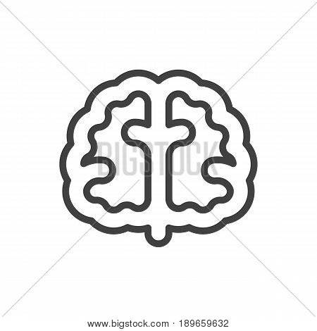 Isolted Marrow Outline Symbol On Clean Background. Vector Brain Element In Trendy Style.