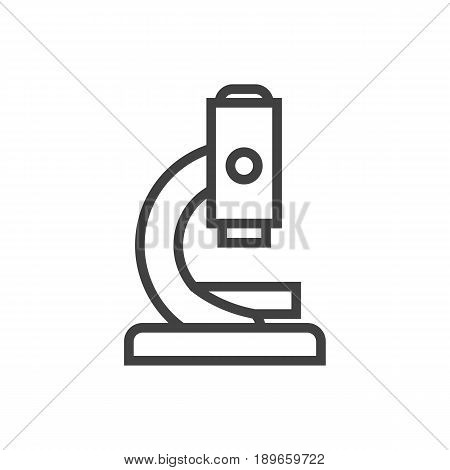 Isolted Microbiology Outline Symbol On Clean Background. Vector Microscope Element In Trendy Style.