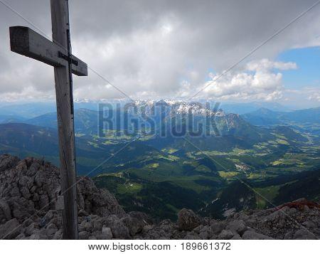 View From The Tom  Of Grosse Bischofsmutze In Austria
