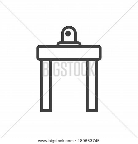 Isolted Device For Detection Outline Symbol On Clean Background. Vector Airport Security Element In Trendy Style.