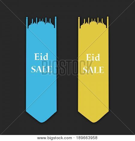 illustration of eid sale tags on occasion of Muslim festival eid