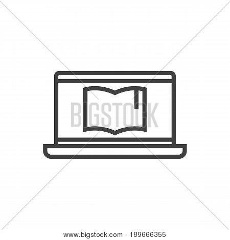 Isolted Notebook Outline Symbol On Clean Background. Vector Laptop Element In Trendy Style.