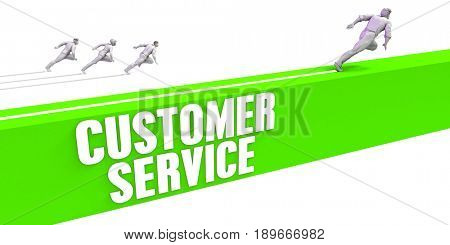 Customer Service as a Fast Track To Success 3D Illustration Render