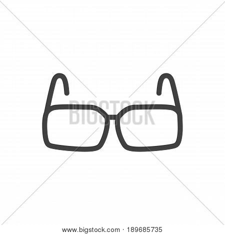 Isolted Spectacles Outline Symbol On Clean Background. Vector Glasses Element In Trendy Style.