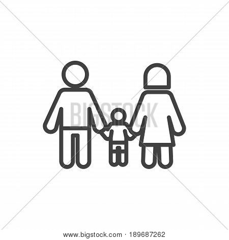 Isolted Relatives Outline Symbol On Clean Background. Vector Family Element In Trendy Style.