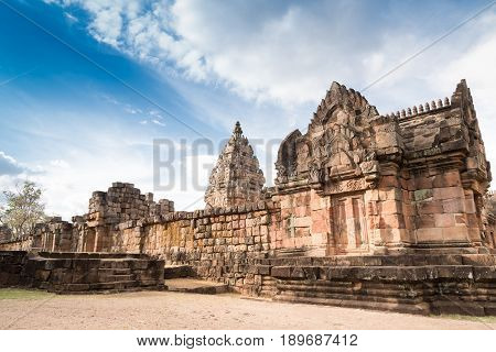 Ancient remains Phanom Rung Historical Park.The one of Thailand's most amazing Khmer architecture site aged over a thousand years old.
