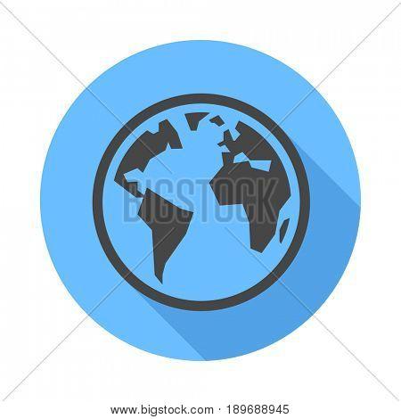 Earth icon. Flat Design icon