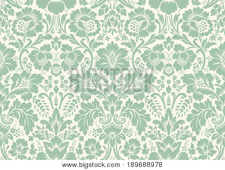 Seamless floral pattern in the style of damask