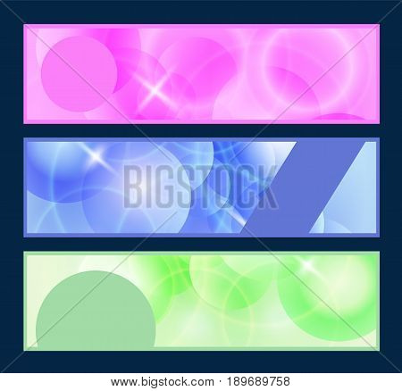 Futuristic web headers set abstract vector illustration