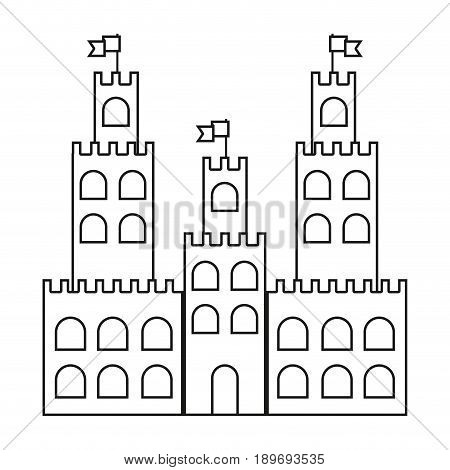 line castle built on an kingdom to protect them vacation vector illustration