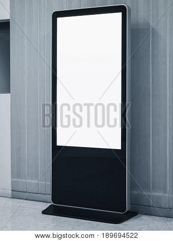 Blank Mock up Banner Stand Media Display Signage Indoor