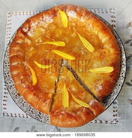 Fresh Baked Pie With Orange Confiture