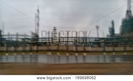Huge Oil Refinery
