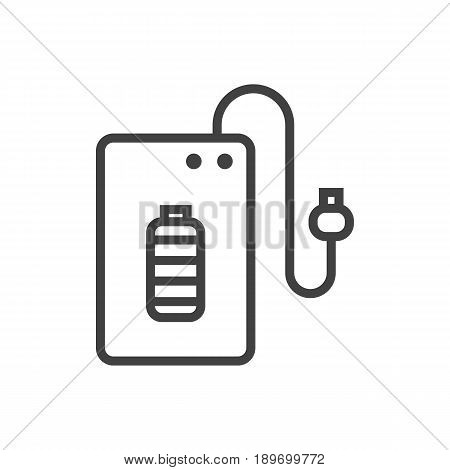 Isolted Supply Outline Symbol On Clean Background. Vector Powerbank Element In Trendy Style.
