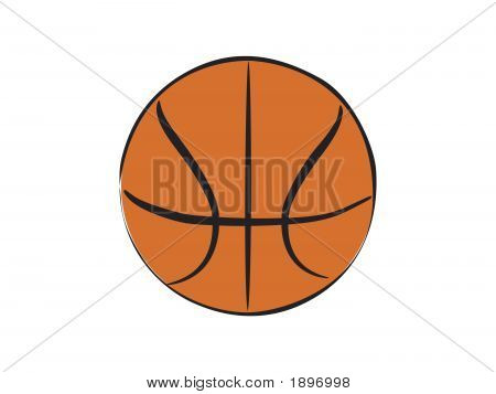 a freehand colour illustration of basket ball poster