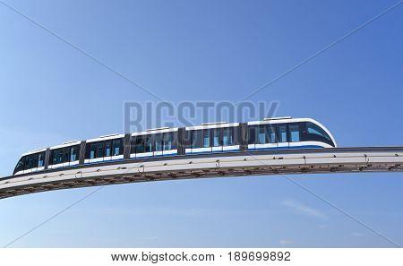 Monorail Train Against Sky