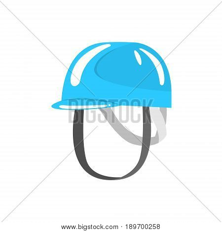 Blue helmet climbing equipment vector Illustration isolated on a white background
